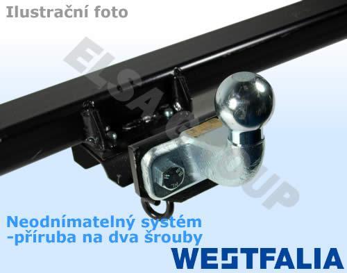 Ťažné zariadenie Ford transit/tourneo valník 2006-2014, prírubový čap 2 skrutky, westfalia