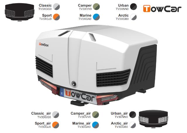 TowCar TowBox V3, perforovaný/uzavřený, na tažné zařízení