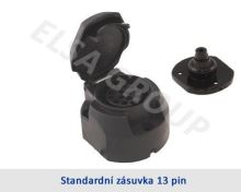 Zásuvka 13pin (DIN) s odpojením mlh. světla + podložka