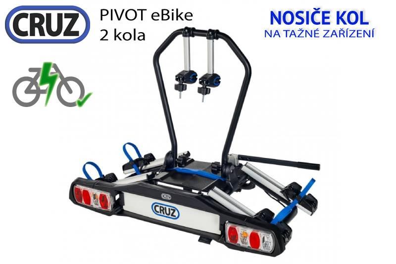 Nosič kol Cruz Pivot eBike - 2 (elektro)kola, na tažné zařízení