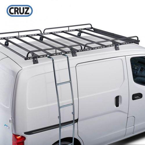Žebřík pro boční uchycení do žlábku / za střešní koš 200cm, sklopný, Cruz