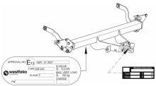Tažné zařízení Citroen Jumper valník 2006-, příruba 4š, Westfalia