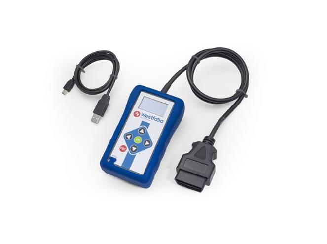 Westfalia autocode mini, diagnostika pre kódování tažných zariadenie