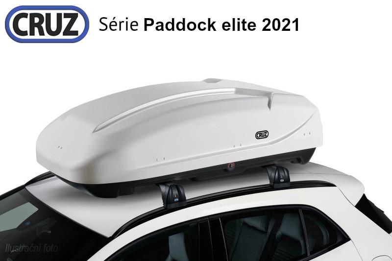 Střešní box CRUZ Paddock elite 400B, lesklá bílá