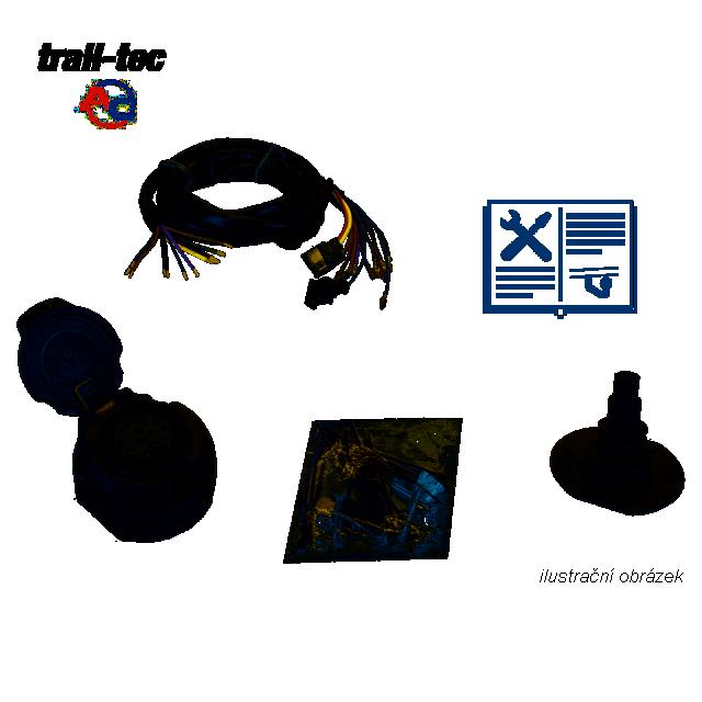 Typová elektropřípojka Citroen Jumper skříň 1994-2002, 13pin, AC