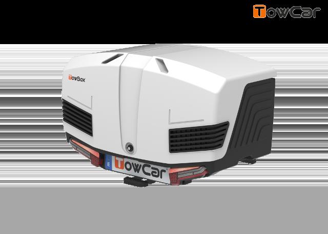 Towcar towbox v3 bielý, uzavrený, na ťažné zariadenie