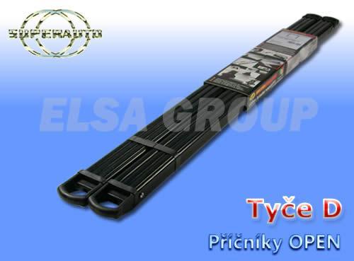 Príčníky strešného nosiče open d čierné 987+987cm