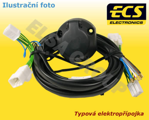 Typová elektropřípojka Volkswagen Tiguan 2016/05- , 13pin, ECS