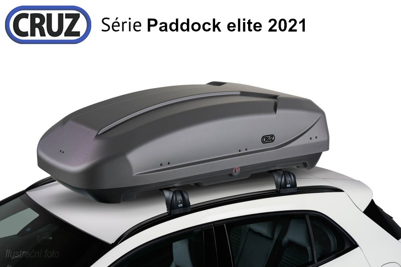 Střešní box CRUZ Paddock elite 400GT, šedá textura