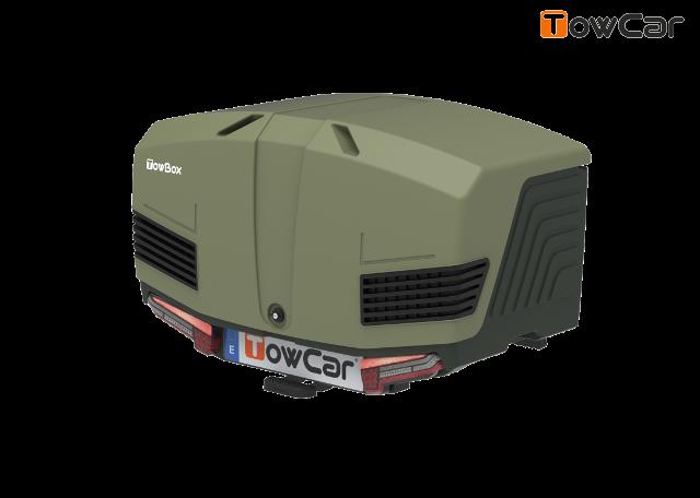 Towcar towbox v3 zelený, uzavrený, na ťažné zariadenie