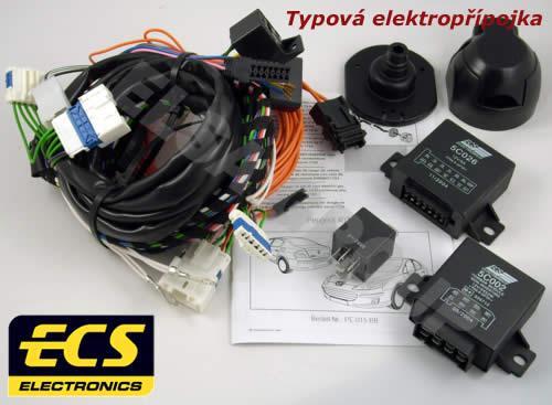 Typová elektropřípojka Peugeot 508 kombi 2011-2019, 7pin, ECS
