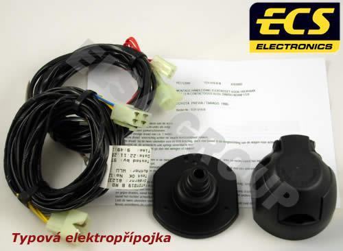 Typová elektroinštalácia toyota avensis sedan+5dv. 2009-, 7pin, ecs
