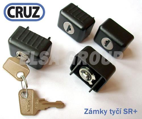 Sada zámků CRUZ 4ks pro tyče ST / SR+ (30x20)
