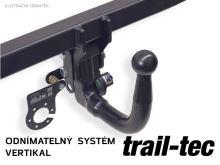 Tažné zařízení Nissan X-Trail 2017- (T32) , vertikální, Trail-Tec