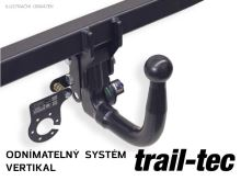 Tažné zařízení Renault Koleos 2017-2020 , vertikální, Trail-Tec