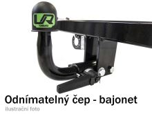 Tažné zařízení Lancia Ypsilon 2003-2011 , bajonet, Umbra
