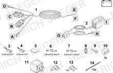 Doplňková sada pro spínané plus (+15) pro 13-ti pinové elektroinstalace