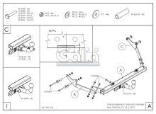 Tažné zařízení Citroen Berlingo I 1996-2008 , odnímatelný bajonet, Galia