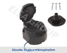 Zásuvka 13pin (DIN) s mikrospínačem + podložka