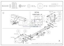 Tažné zařízení Citroen Jumper / Fiat Ducato / Peugeot Boxer valník, od 2006