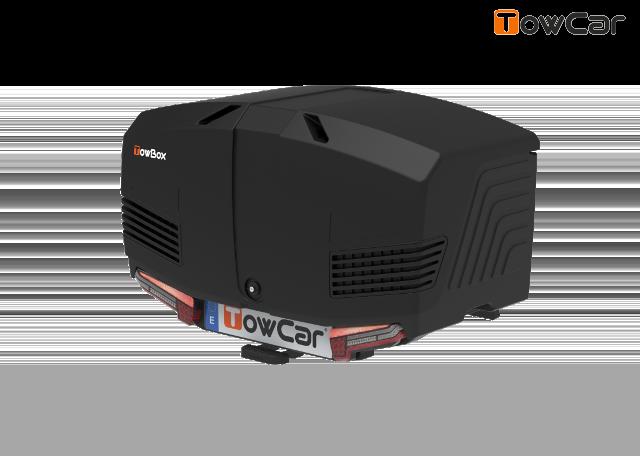 Towcar towbox v3 čierný, uzavrený, na ťažné zariadenie