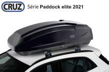 Střešní box CRUZ Paddock elite 400N, lesklá černá