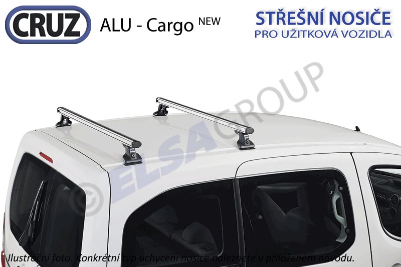 Strešný nosič iveco daily 00-, cruz alu cargo