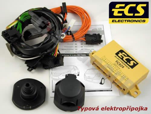 Typová elektropřípojka Opel Corsa 09/2006-01/2011 (D) , 7pin, ECS