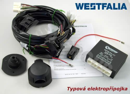 Typová elektropřípojka Nissan Qashqai 2014-2018 (J11) , 7pin, Westfalia