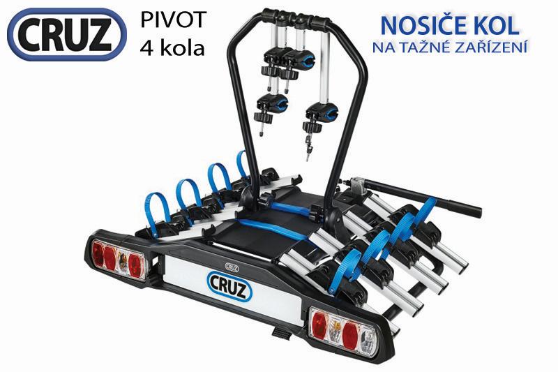 Nosič bicyklov cruz pivot - 4 kola, na ťažné zariadenie