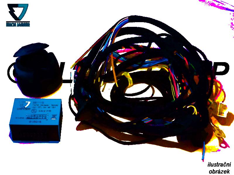 Typová elektropřípojka Fiat Doblo skříň 2019- (III), 13pin, Erich Jaeger