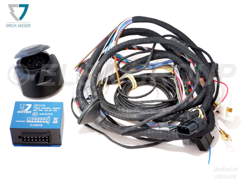 Typová elektroinštalácia Ford transit valník 2019/06-, 13pin, erich jaeger