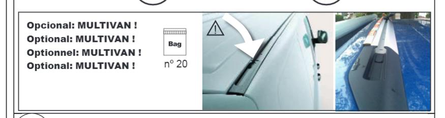 Sada 4 fixač. šroubů/matic ke střeš. nosičům na MB Sprin.+VW Transporter T5/T6 s T-drážkou