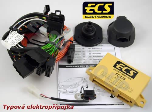 Typová elektropřípojka Opel Corsa 2006-2014 (D) , 7pin, ECS