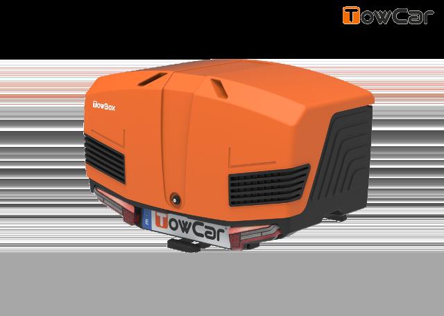 Towcar towbox v3 oranžový, uzavrený, na ťažné zariadenie