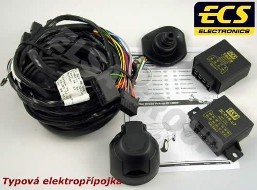 Typová elektroinštalácia Fiat strada 2000- , 7pin, ecs