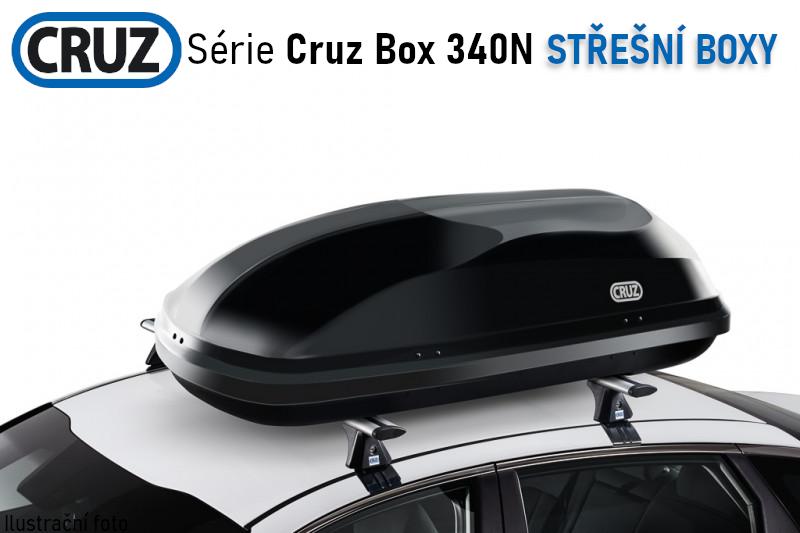 Střešní box CRUZ Box 340N, lesklá černá