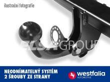 Tažné zařízení Peugeot 207 HB+CC 2006-, pevný čep 2 šrouby, Westfalia