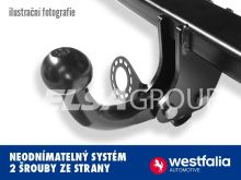 Tažné zařízení Peugeot 307 SW kombi 2001-2005/04, pevný čep 2 šrouby, Westfalia