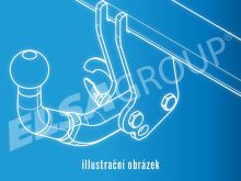Tažné zařízení Alfa Romeo 159 Sportwagon 2006-2012, horizontální, Bosal-Oris