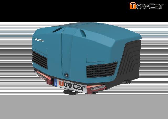 Towcar towbox v3 modrý, uzavrený, na ťažné zariadenie