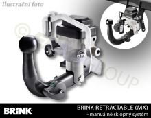 Tažné zařízení VW Golf HB 2014- (VII), sklopné, BRINK