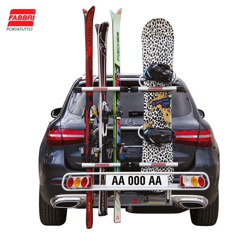 Nosič lyží Fabbri Exclusiv Ski & Board Deluxe - 6 párů lyží, na tažné zařízení