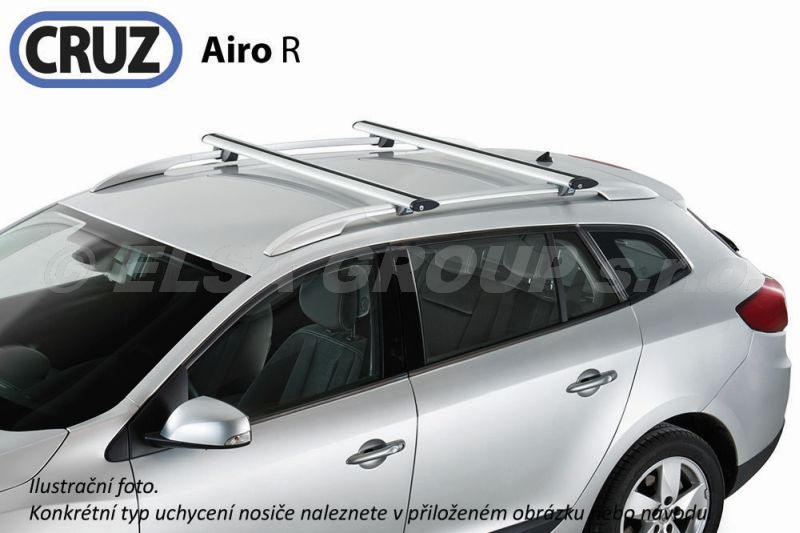 Strešný nosič kia carnival 5dv. (i/II) s podélníky, cruz airo alu