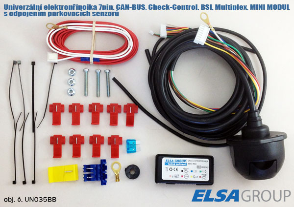 Univerzální elektropřípojka 7pin CC/CAN s odpojením park. senzorů