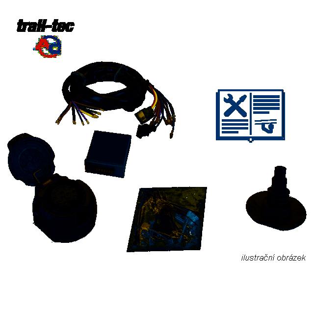 Typová elektroinštalácia Citroen jumper valník 2006-, 13pin, ac