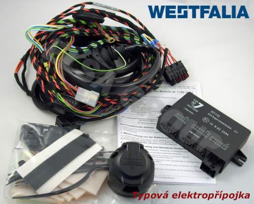 Typová elektroinštalácia Volkswagen Transporter valník 2009-2015 (t5) , 13pin, westfalia