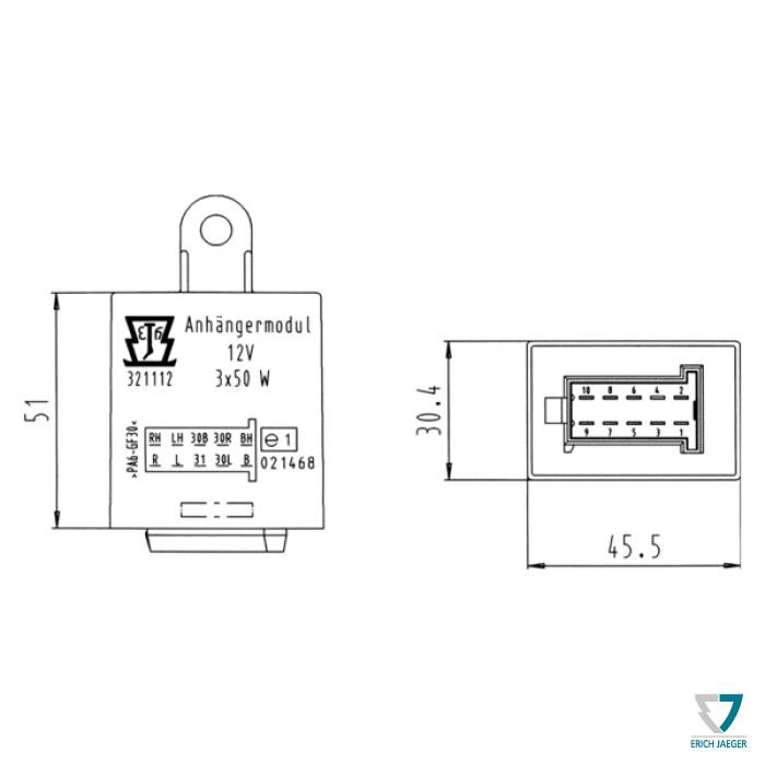Nd modul erich jaeger 12v pre vozy s check control