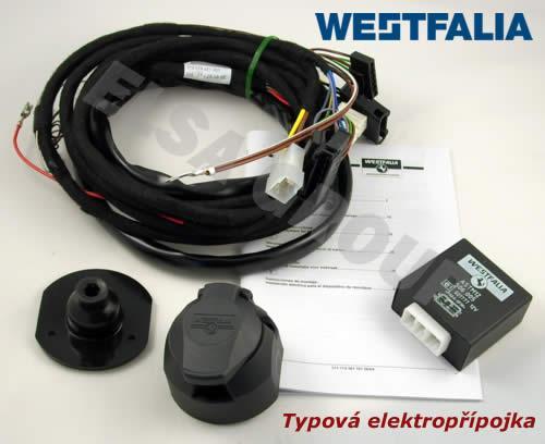 Typová elektroinštalácia mercedes benz vaneo 2002- , 13pin, westfalia