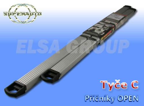 Príčníky strešného nosiče open c alu 1142+987cm